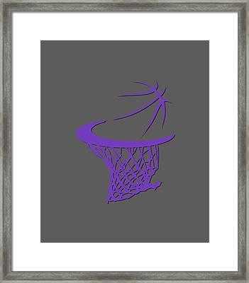 Kings Basketball Hoop Framed Print