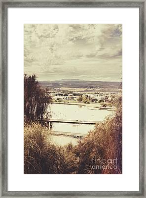 Kings Bridge In Launceston Tasmania Framed Print by Jorgo Photography - Wall Art Gallery