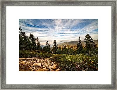 King's Canyon Crown Framed Print
