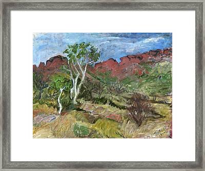 Kings Canyon Framed Print by Joan De Bot