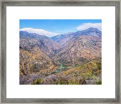 King's Canyon  Framed Print