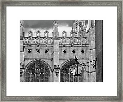 Kings College Chapel Cambridge Exterior Detail Framed Print by Gill Billington