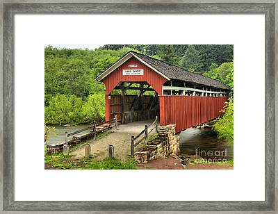 Kings Covered Bridge Somerset Pa Framed Print