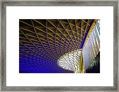 Kings Cross Railway Station Roof Framed Print