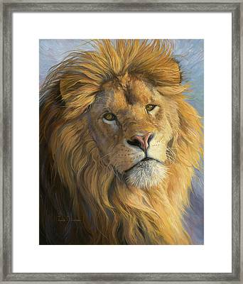 King's Gaze Framed Print by Lucie Bilodeau