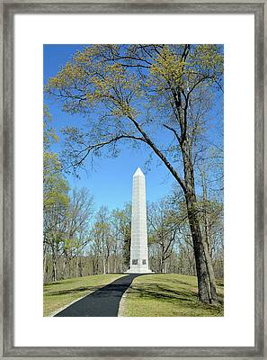 Kings Mountain National Military Park Monument Framed Print by Bruce Gourley
