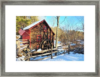 Kingsbury Grist Mill  Framed Print by Catherine Reusch Daley