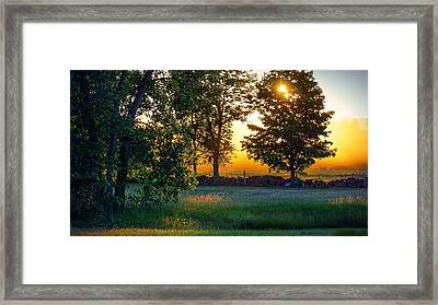 Framed Print featuring the photograph Kingsbury Sunset by Kendall McKernon