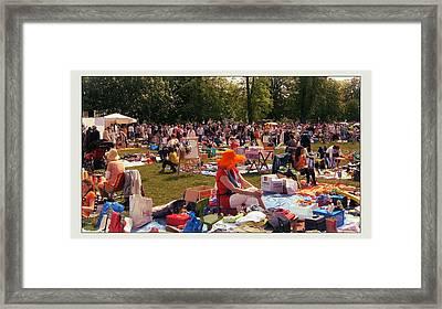 Kingsday In Maastricht Netherlands Framed Print