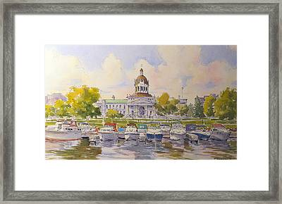 Kingston City Hall And Harbour Framed Print