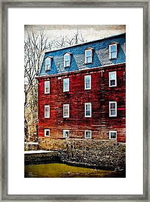 Kingston Mill Framed Print by Colleen Kammerer