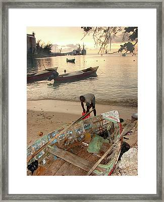 Kingston Jamaica Beach Framed Print