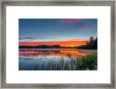 Kingston Lake Sunset Framed Print