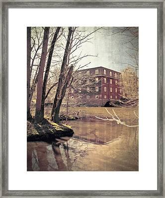 Kingston Mill Across The River Framed Print by Colleen Kammerer