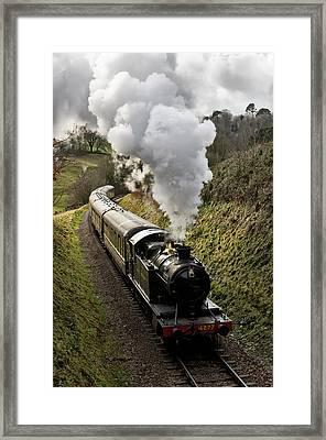Kingswear To Paignton Train Framed Print