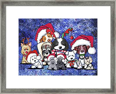 Kiniart Christmas Party Framed Print by Kim Niles