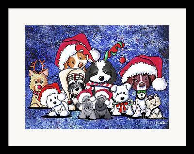 Westie Puppy Mixed Media Framed Prints