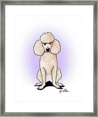 Kiniart Poodle Framed Print by Kim Niles