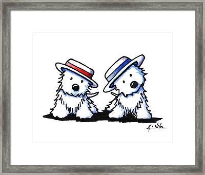 Kiniart Westie Dancing Duo Framed Print by Kim Niles