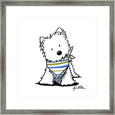 Kiniart Westie Terrier Framed Print by Kim Niles