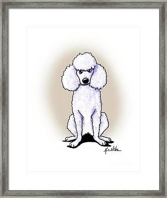 Kiniart White Poodle Framed Print