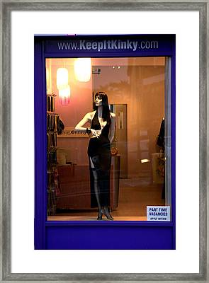 Kink O Clock Framed Print by Jez C Self