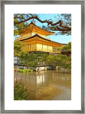 Kinkakuji Golden Pavilion Kyoto Framed Print