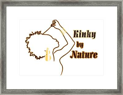 Kinky By Nature Framed Print by Rachel Natalie Rawlins