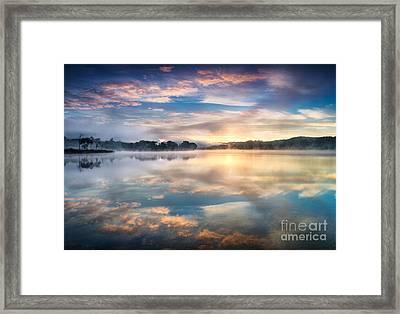 Kinlochard Sunrise Framed Print by Richard Burdon