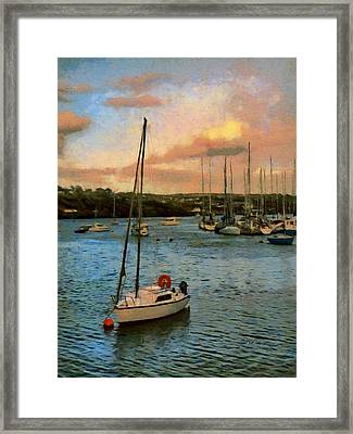 Kinsale Harbour Evening Framed Print by Jeff Kolker