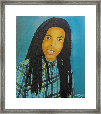 Kinshasa My First Grandchild Framed Print by Nicole Jean-Louis