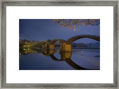Kintai Bridge In Iwakuni Framed Print by Karen Walzer