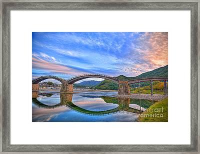 Kintai Bridge Japan Framed Print