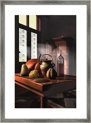 Kinzeliin Still Life 1 Framed Print by Dave Luebbert