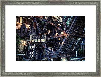 Kinzie Rail Bridge Detail Framed Print