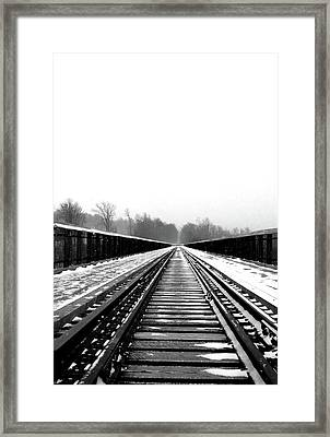 Framed Print featuring the digital art Kinzua Bridge Skywalk by Sharon Batdorf