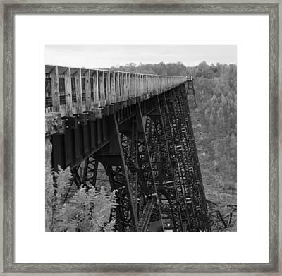 Framed Print featuring the photograph Kinzua Skywalk by Rick Morgan