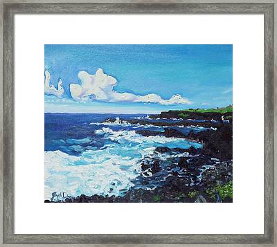 Kipahulu Framed Print by Joseph Demaree