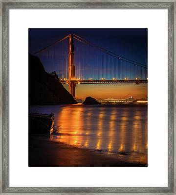 Kirby Cove Framed Print