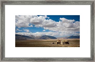 Kirgizian Jurts Framed Print by Konstantin Dikovsky