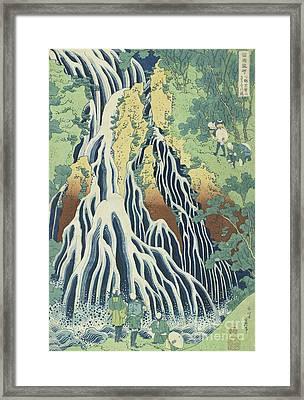 Kirifuri Falls Near Mount Kurokami In Shimotsuke Province Framed Print