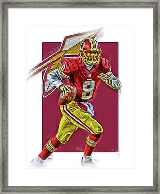 Kirk Cousins Washington Redskins Oil Art Framed Print by Joe Hamilton