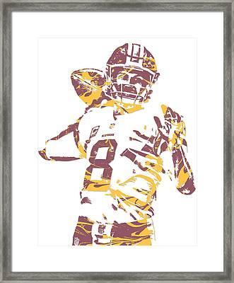 Kirk Cousins Washington Redskins Pixel Art 2 Framed Print