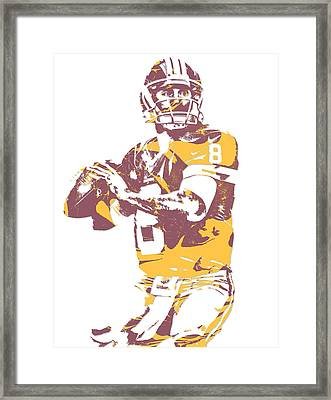 Kirk Cousins Washington Redskins Pixel Art 3 Framed Print