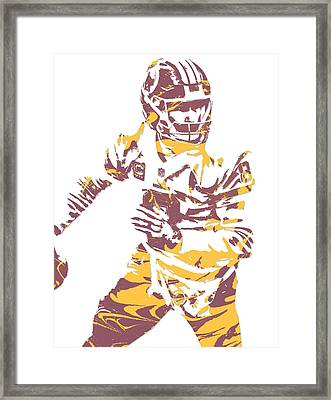 Kirk Cousins Washington Redskins Pixel Art 4 Framed Print