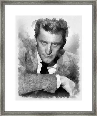Kirk Douglas Actor Framed Print by Esoterica Art Agency