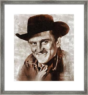 Kirk Douglas By Mary Bassett Framed Print