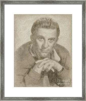 Kirk Douglas Hollywood Actor Framed Print by Frank Falcon