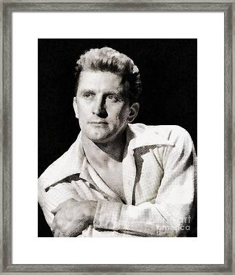 Kirk Douglas, Hollywood Legend By John Springfield Framed Print by John Springfield