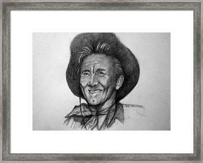 Framed Print featuring the painting Kirk  Douglas by Paul Weerasekera
